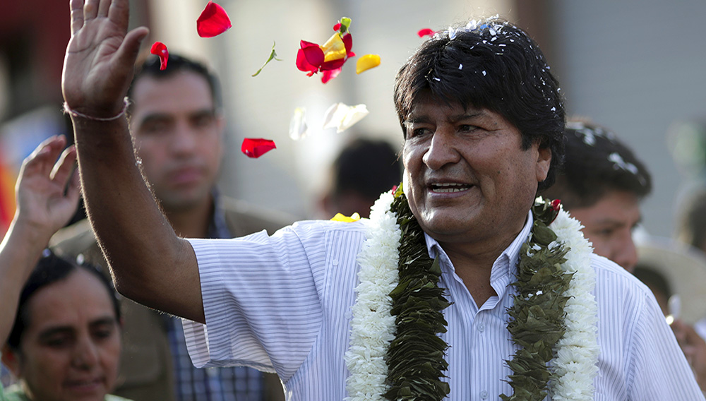 Evo Morales aspira a mantener a la nación como líder del crecimiento económico de América Latina y referente en cuanto a la distribución de las riquezas.   Foto: Reuters