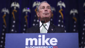 Former New York Mayor Michael Bloomberg speaks during a press conference to discuss his presidential run on November 25 in Norfolk, Virginia. DREW ANGERER/GETTY