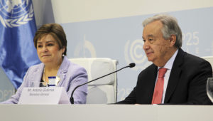 Conference Secretary General: Mr. António Guterres / Secretary-General. The UN Climate Change Conference COP 25. Photo: UN Climate Change (Flickr)