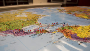 Mapa de América. Photo: Valentina Lopez