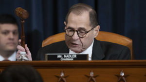 House Judiciary Committee Chairman Rep. Jerrold Nadler, D-N.Y., gavels a recess of a House Judiciary Committee markup of the articles of impeachment against President Donald Trump. Photo: AP