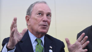"""11 November 2017, Bonn: Former New York mayor Michael Bloomberg, speaks at the """"America's Pledge"""" climate initiative tent during the World Climate Conference. Bloomberg is running for president of the United States, according to his website. Photo: Henning Kaiser/dpa"""