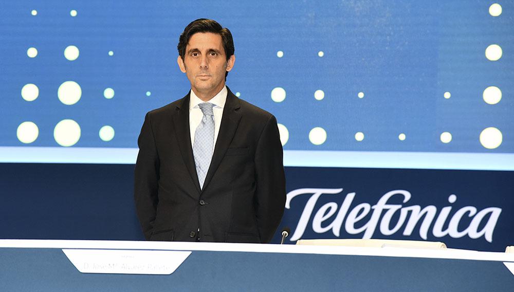 """José María Álvarez-Pallete: """"Telefónica tiene una clara orientación al accionista y el firme compromiso de ofrecerle una atractiva remuneración"""". Foto: Telefonica.com"""