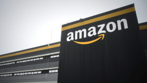 This picture taken on on October 22, 2019, shows a new Amazon warehouse, part of mobile robotic fulfilment systems also known as 'Amazon robotics', in Bretigny-sur-Orge, some 30kms south of Paris. (Photo by Philippe LOPEZ / AFP) (Photo by PHILIPPE LOPEZ/AFP via Getty Images)