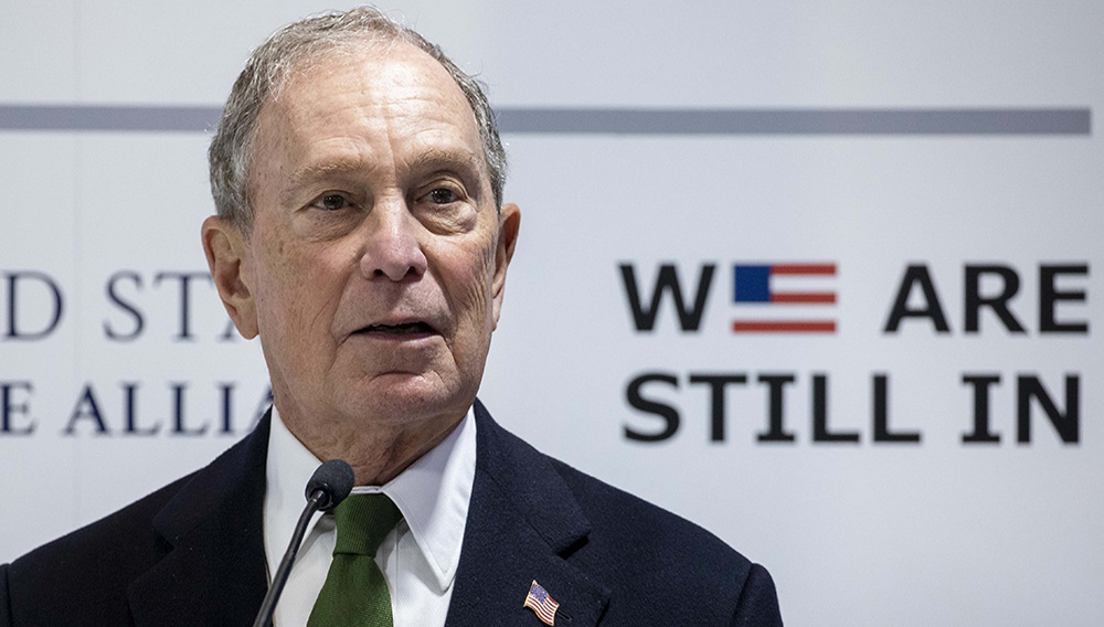 MADRID, SPAIN - DECEMBER 10: Democratic Presidential candidate and former New York City Mayor Michael Bloomberg speaks at a conference during the COP25 Climate Summit on December 10, 2019 in Madrid, Spain. The COP25 conference brings together world leaders, climate activists, NGOs, indigenous people and others for two weeks in an effort to focus global policy makers on concrete steps for heading off a further rise in global temperatures. (Photo by Pablo Blazquez Dominguez/Getty Images)