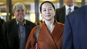 La directora financiera de Huawei, Meng Wanzhou, fotografiada saliendo de la Corte Superior de Columbia Británica el 23 de septiembre de 2019 en Vancouver, Canadá. GETTY IMAGES NORTH AMERICA/AFP/Archivos / Karen Ducey