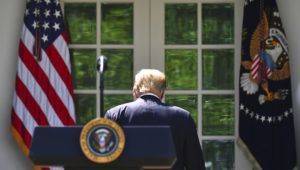President Donald Trump at the White House on May 16, 2019. Mandel Ngan/AFP/Getty Images
