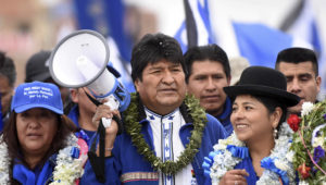 Bolivia's President Evo Morales attends a campaign rally before general elections on Oct. 20, in El Alto, outskirts of La Paz, Bolivia, Oct. 5, 2019. (Courtesy of Bolivian Presidency/Handout)