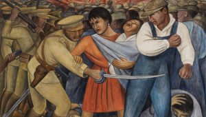 Diego Rivera, The Uprising (1931). © 2019 Banco de México–Rivera–Kahlo/ARS. Reproduction authorized by the National Institute of Fine Arts and Literature (INBAL), 2019.