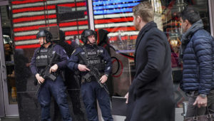 Police Up Times Square Security With Huge Crowds Expected For 2020 Ball Drop. Drew Angerer/Getty Images