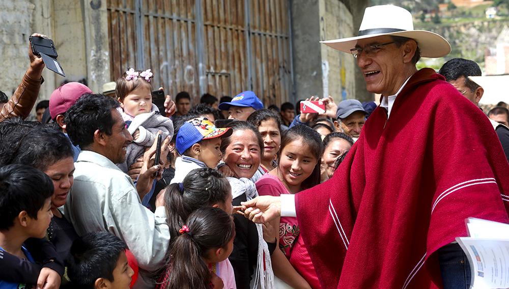 Jefe de Estado, Martín Vizcarra, da inicio a la obra de ampliación y mejoramiento del sistema de agua potable y alcantarillado en 6 sectores del cercado de la ciudad de Celendín (Cajamarca). 14 de enero de 2020. Foto: Presidencia Perú (Flickr)