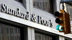 Ratings agency Standard & Poors' building is seen in New York's financial district, December 8, 2011. REUTERS/Brendan McDermid