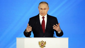 Russian president Vladimir Putin proposed giving parliament the power to choose the prime minister as well as confirm cabinet ministers. | EPA/YURI KOCHETKOV