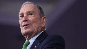 """Democratic presidential candidate former New York City Mayor Mike Bloomberg speaks during a """"United for Mike,"""" event held at the Aventura Turnberry Jewish Center and Tauber Academy Social Hall on January 26, 2020 in Aventura, Florida. Joe Raedle   Getty Images"""
