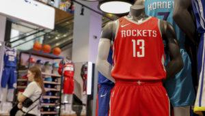 The NBA Store in New York City on Oct. 7. (Brendan McDermid)