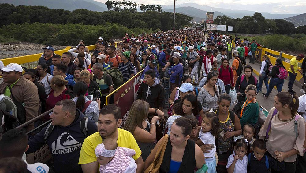 El impresionante éxodo de los venezolanos hacia Colombia. Foto: Esteban Vega / SEMANA