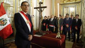 Presidente Martín Vizcarra tomó juramento a Ministros de Estado. 13 de febrero de 2020. Foto: Presidencia Perú (Flickr)