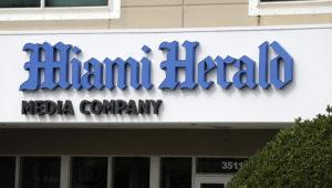 McClatchy, compañía propietaria de los diarios estadounidenses Miami Herald, The Kansas City Star y otros, solicitó al gobierno federal protección ante acreedores por bancarrota. Foto: AP