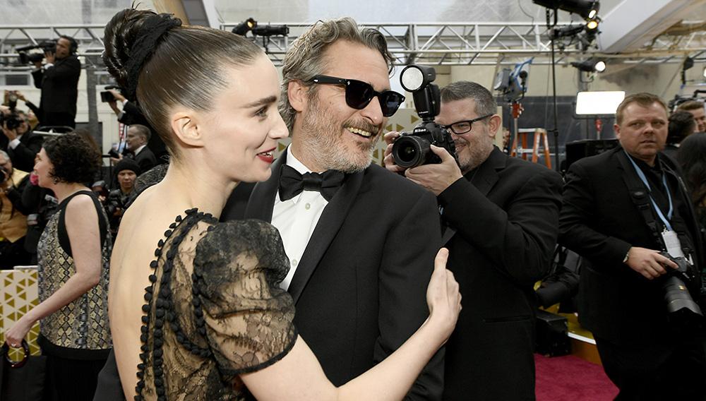 Rooney Mara and Joaquin Phoenix.   Getty Images