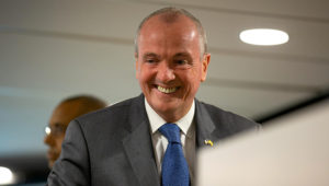 NJ Gov. Phil Murphy gives the keynote speech at the NJBIC conference in Willingboro on Thursday. [DAVE HERNANDEZ / PHOTOJOURNALIST]