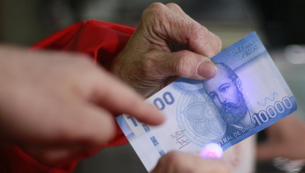 Billete de 10.000 pesos chilenos. Foto: Internet