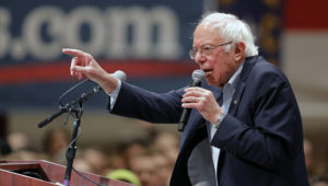 Democratic presidential candidate Sen. Bernie Sanders, I-Vt., speaks at a campaign event in Durham, N.C., Friday, Feb. 14, 2020. (AP Photo/Gerald Herbert)