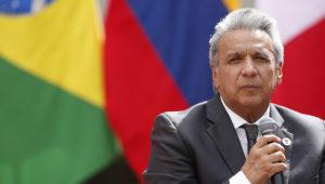 12 de marzo del 2019. SANTIAGO. Presidente de Ecuador, Lenin Moreno. Encuentro de Presidentes de América del Sur 2019. FOTO: SEBATIAN BROGCA/AGENCIAUNO