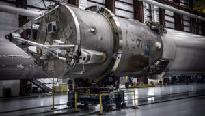 SPACEX TRANSPORTS ITS LANDED FALCON 9 ROCKET TO ITS TEMPORARY HOME IN FLORIDA. Photo: SpaceX