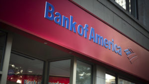 Signage is displayed on the exterior of a Bank of America Corp. branch in New York, U.S., on Wednesday, Oct. 12, 2016. Bank of America Corp. is scheduled to release earnings figures on October 17. Photographer: Mark Kauzlarich/Bloomberg