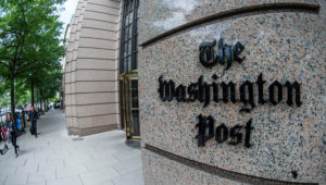 The Trump campaign has filed a lawsuit against The Washington Post. ERIC BARADAT / AFP VIA GETTY IMAGES