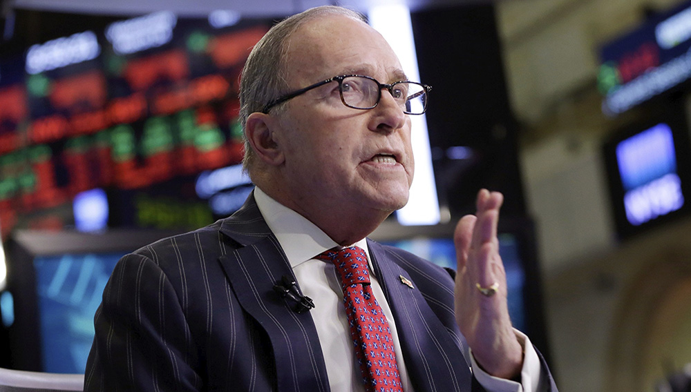 Larry Kudlow, the Reagan Administration official turned TV pundit, will return to the White House as President Trump's top economic adviser. Photograph by Richard Drew / AP