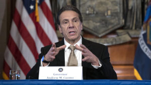 March 22, 2020 - Albany, NY - Governor Andrew M. Cuomo provides a coronavirus update during a briefing in the Red Room at the state Capitol in Albany. (Mike Groll/Office of Governor Andrew M. Cuomo)