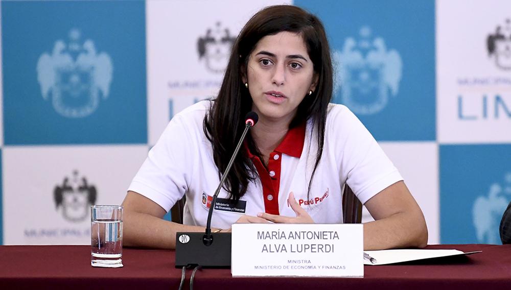 Ministra de Economía y Finanzas de Perú, María Antonieta Alva Luperdi. Foto: MEF