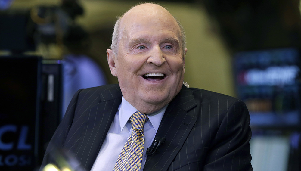 Former Chairman and CEO of General Electric Jack Welch appears on CNBC on the floor of the New York Stock Exchange, Tuesday, Oct. 22, 2013. (AP Photo/Richard Drew)