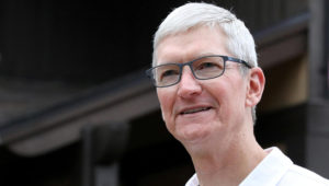 Tim Cook, CEO of Apple, attends the annual Allen and Co. Sun Valley media conference in Sun Valley, Idaho, U.S., July 10, 2019. REUTERS/Brendan McDermid/File Photo