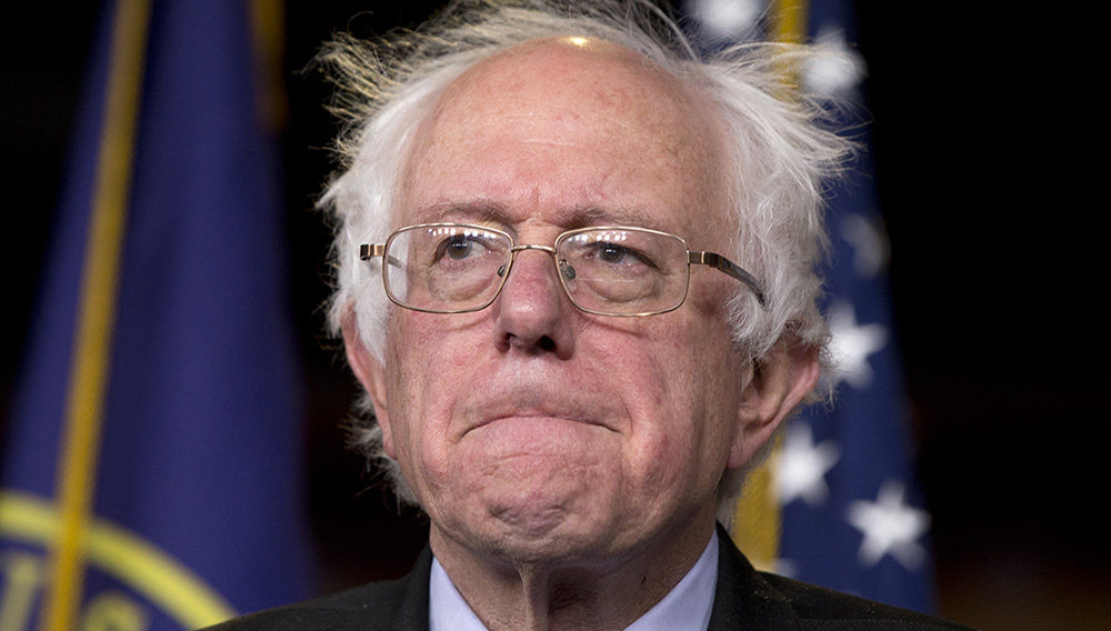 Sen. Bernie Sanders, I-Vt., participates in a news conference on Capitol Hill in Washington, Wednesday, April 29, 2015. (AP Photo/Carolyn Kaster)