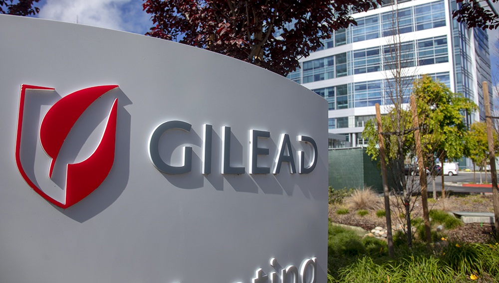 FOSTER CITY, CALIFORNIA – MARCH 24: Biotechnology company Gilead is photographed at the company headquarters in Foster City, Calif., Wednesday, March 25, 2020. (Karl Mondon/Bay Area News Group)
