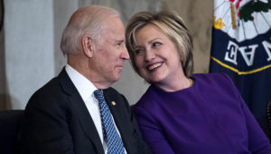 Former Secretary of State Hillary Clinton endorsed former vice president Joe Biden for president on Tuesday during a virtual town hall. TOM WILLIAMS / CQ-ROLL CALL, INC VIA GETTY IMAGES