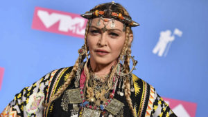 In this file photo taken on August 21, 2018 Madonna poses in the press room at the 2018 MTV Video Music Awards at Radio City Music Hall on August 20, 2018 in New York City. (Photo by ANGELA WEISS/AFP)