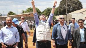 (Aguas Lindas de Goiás - GO, 11/04/2020) Presidente da República Jair Bolsonaro, durante visita ao Hospital de Campanha de Águas Lindas de Goiás. | FOTO: Marcos Corrêa/PR