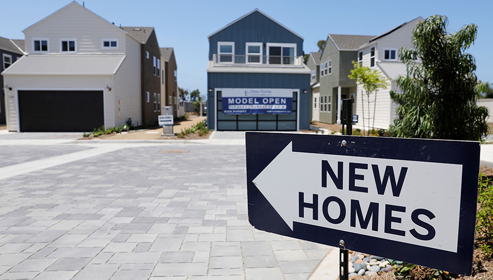 Newly constructed single family homes are shown for sale in Encinitas, California, July 31, 2019. PHOTO: Mike Blake   Reuters