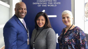 President and CEO Cid Wilson, Senior Vice President & Chief Operating Officer Lisette Garcia, Ph. D. and Vice President of Executive Programs, Mayra Espinoza are currently leading HACR on a historic trip to Davos, Switzerland for the 2019 World Economic Forum. PHOTO: HACR (Instagram)