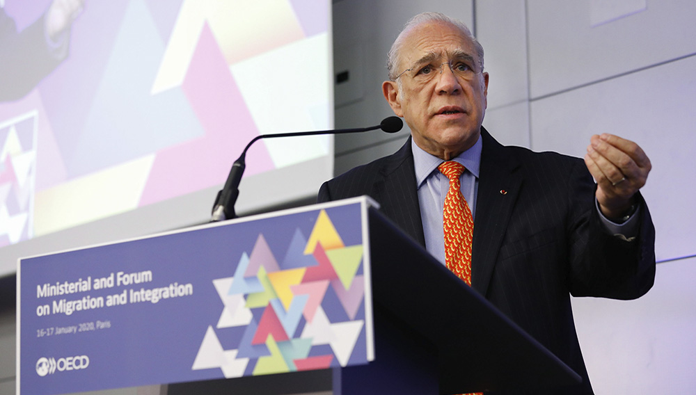 16 January 2020. Ministerial and Forum on Migration and Integration. Angel Gurría, OECD Secretary-General. OECD Headquarters, Paris, France. Photo: OECD/Andrew Wheeler