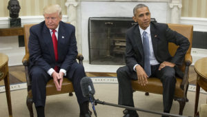 Donald Trump and Barack Obama met in the Oval Office on nov. 10. MICHAEL REYNOLDS/EUROPEAN PRESSPHOTO AGENCY