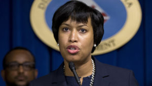 Washington Mayor Muriel Bowser speaks during a news conference in Washington, on Tuesday, Dec. 15, 2015, about the release of body camera footage related to the death of special education teacher Alonzo Smith. (AP Photo/Manuel Balce Ceneta)