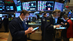 The New York Stock Exchange trading floor on March 19, 2020, a few days before its closure. AFP / Johannes EISELE