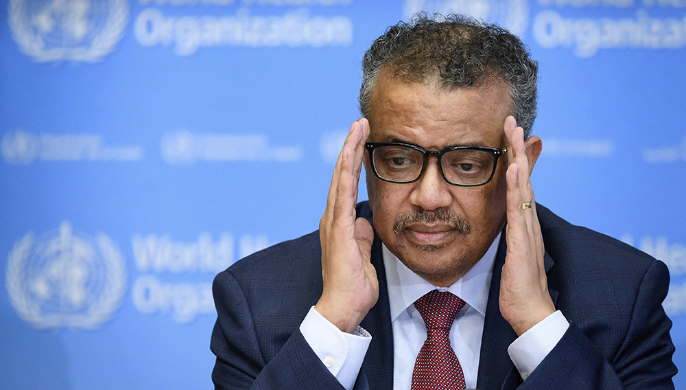 Tedros Adhanom Ghebreyesus has been criticized for his performance during the cholera epidemic in in Ethiopia during which he appeared to condone the secrecy of autocratic states. FABRICE COFFRINI/AFP/GETTY IMAGES
