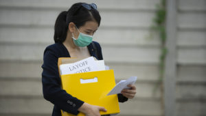 Layoff notice. | Getty Images