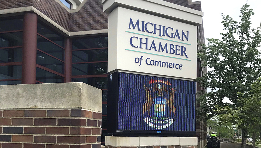 The Michigan Chamber of Commerce's headquarters in downtown Lansing. (Photo: Craig Mauger)