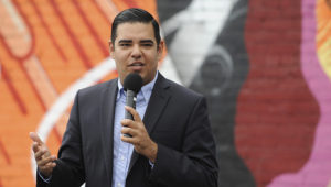 """Long Beach Mayor Robert Garcia, pictured in 2016, says his mother """"found"""" the American dream. She died of COVID-19 in July. 